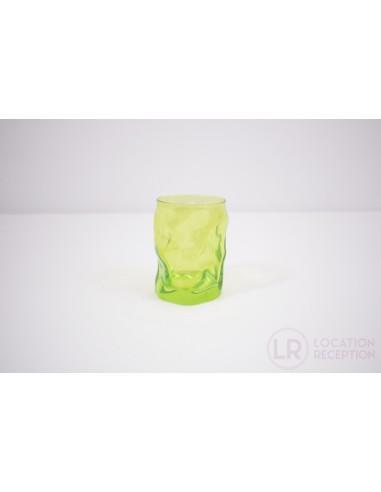 Verre gobelet couleur vert 30 cl