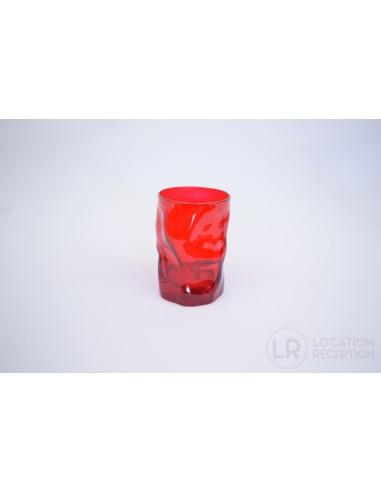 Verre gobelet couleur rouge 30 cl