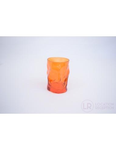 Verre gobelet couleur orange 30 cl