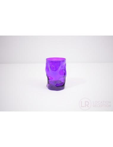 Verre gobelet couleur violet 30 cl