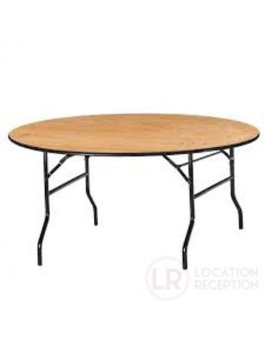 Table ronde diamètre 183 cm pour 10 personnes