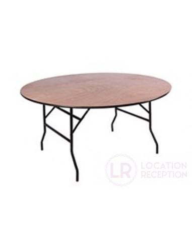 Table ronde diamètre 125 cm pour 6 personnes