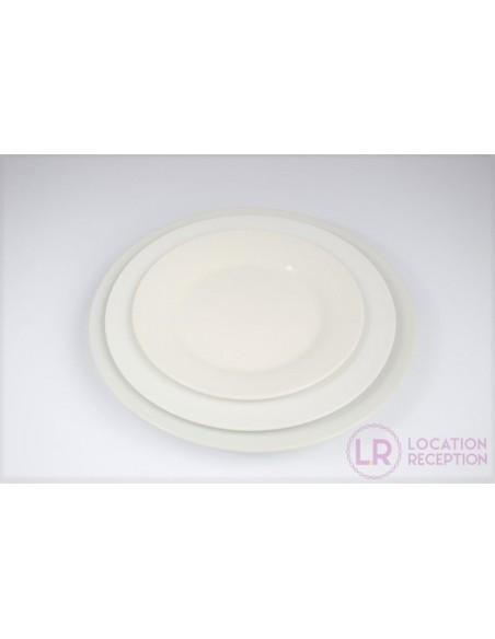 Assiette ronde gamme porcelaine blanche