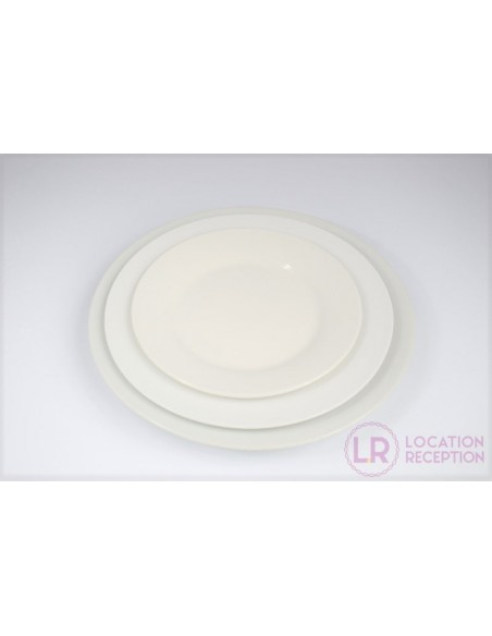 Assiette ronde gamme porcelaine blanche white