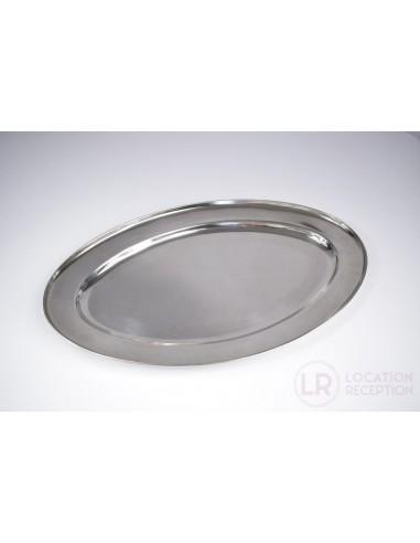Plat ovale inox