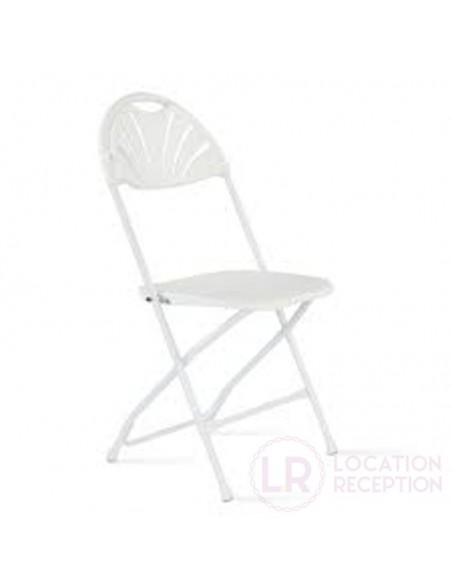 Chaise Amigo blanche pliante