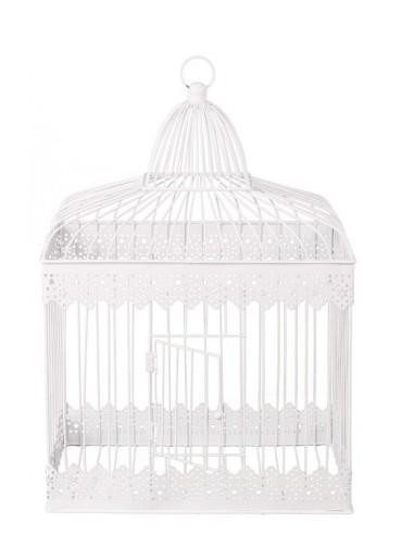 Grande cage à oiseau blanche