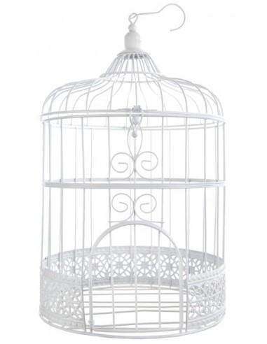 Cage à oiseau blanche