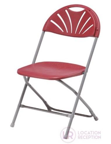 Chaise Amigo bordeaux pliante