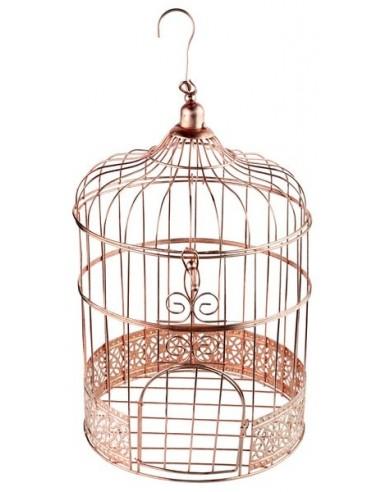 Cage à oiseau rose gold
