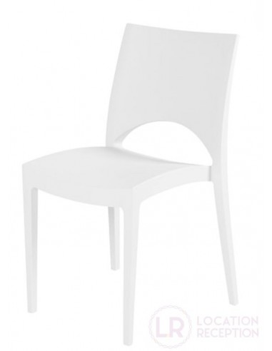 Chaise blanche florida empilable