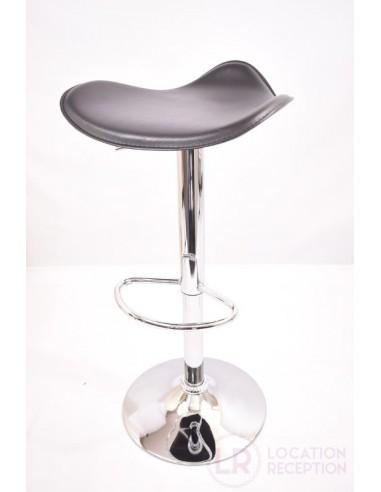 Tabouret haut avec assise molletonnée noire