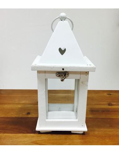 Lanterne en bois blanc
