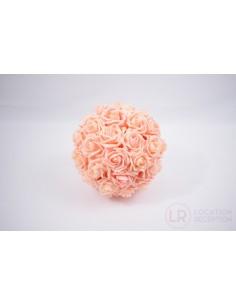 Boule de rose pêche 25 cm