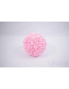 Boule de rose rose pâle 25 cm