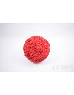 Boule de rose rouge 25 cm