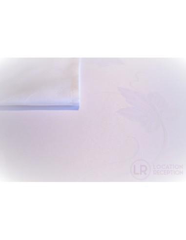 Nappe en tissu marjolaine blanc